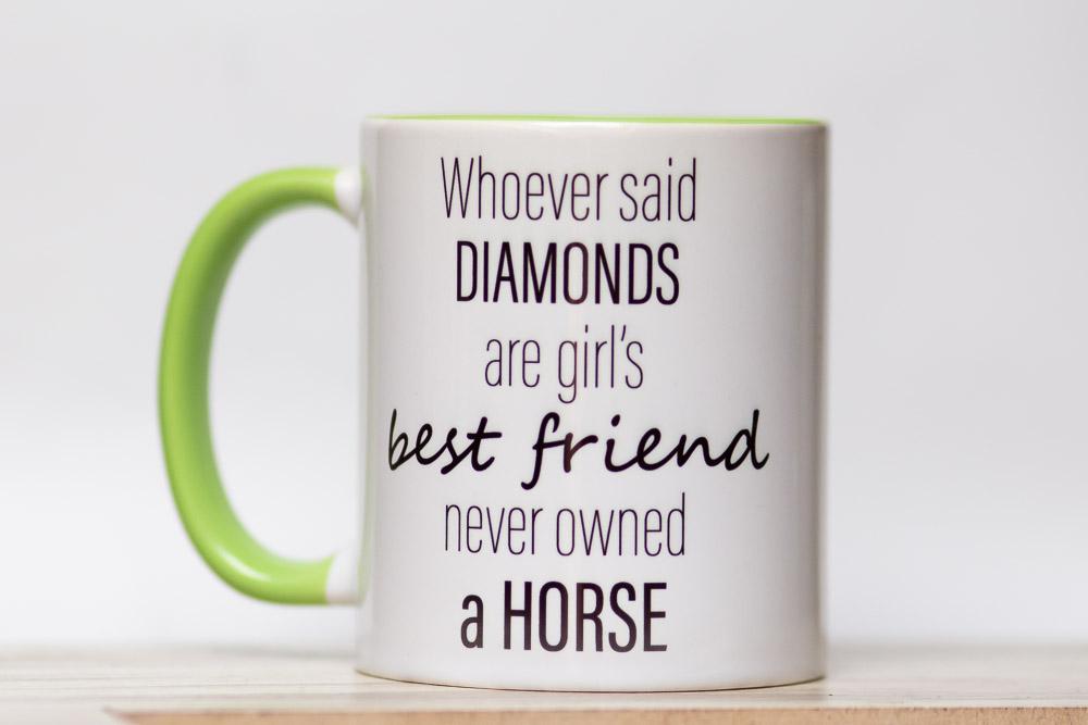 Kubek z nadrukiem, kubek z koniem, prezent dla koniarza, prezent konie, gadżety jeździeckie